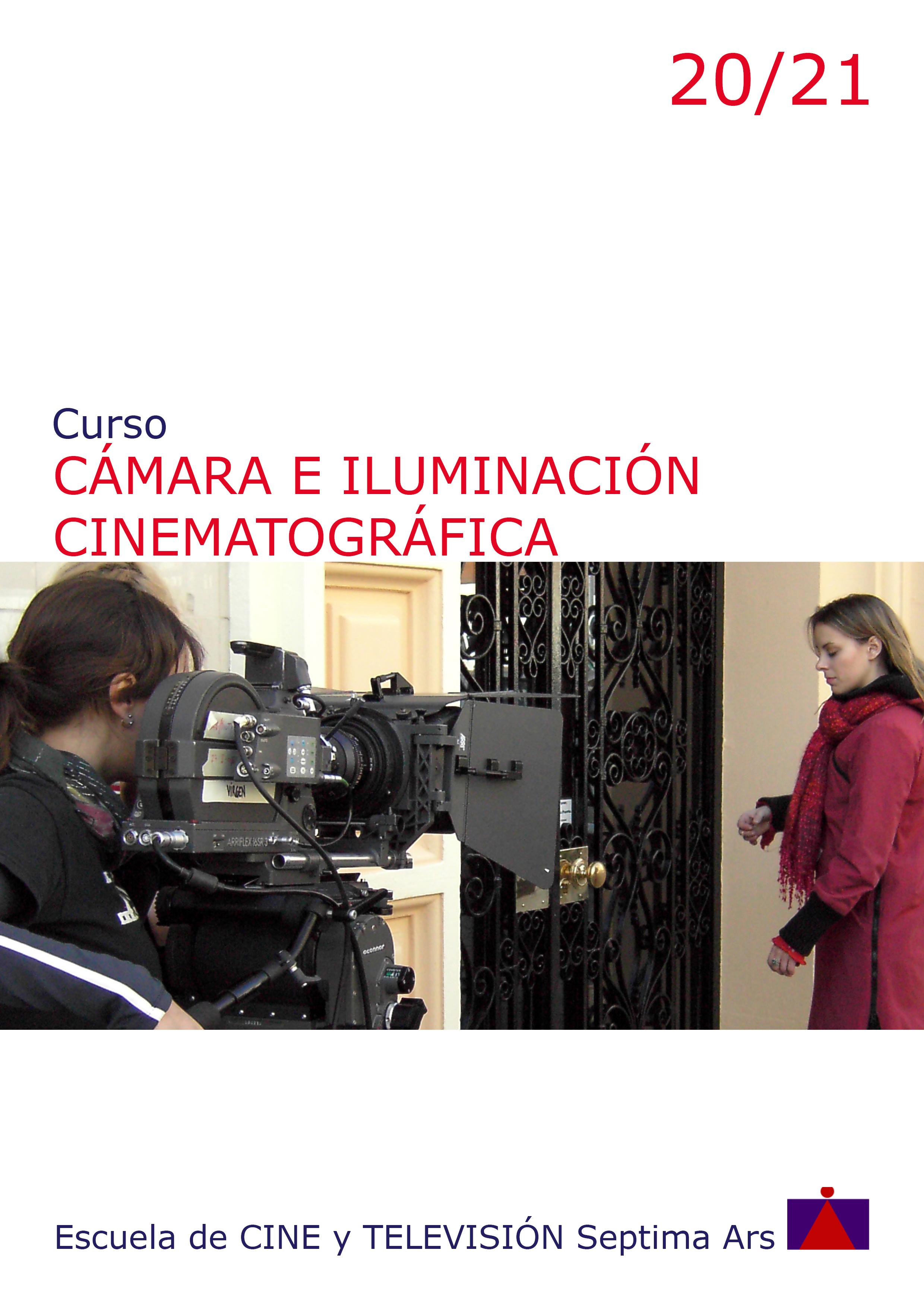 Programa del Curso de Cámara e Iluminación para Cine