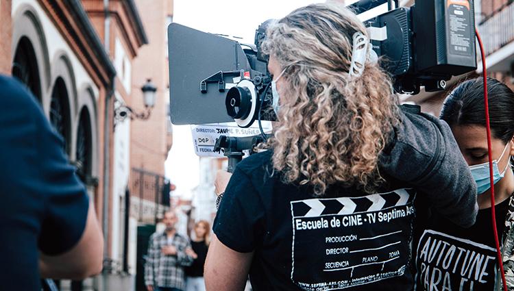 Alumnos de la Escuela de Cine Septima Ars rodando en Madrid